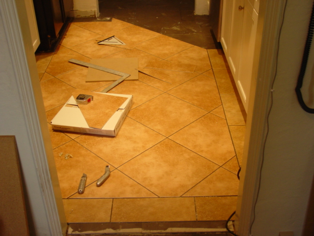 Dura Ceramic Tile Install In Kitchen With Border Tucson Az