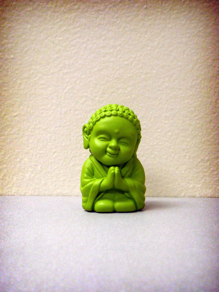 tiny green buddha