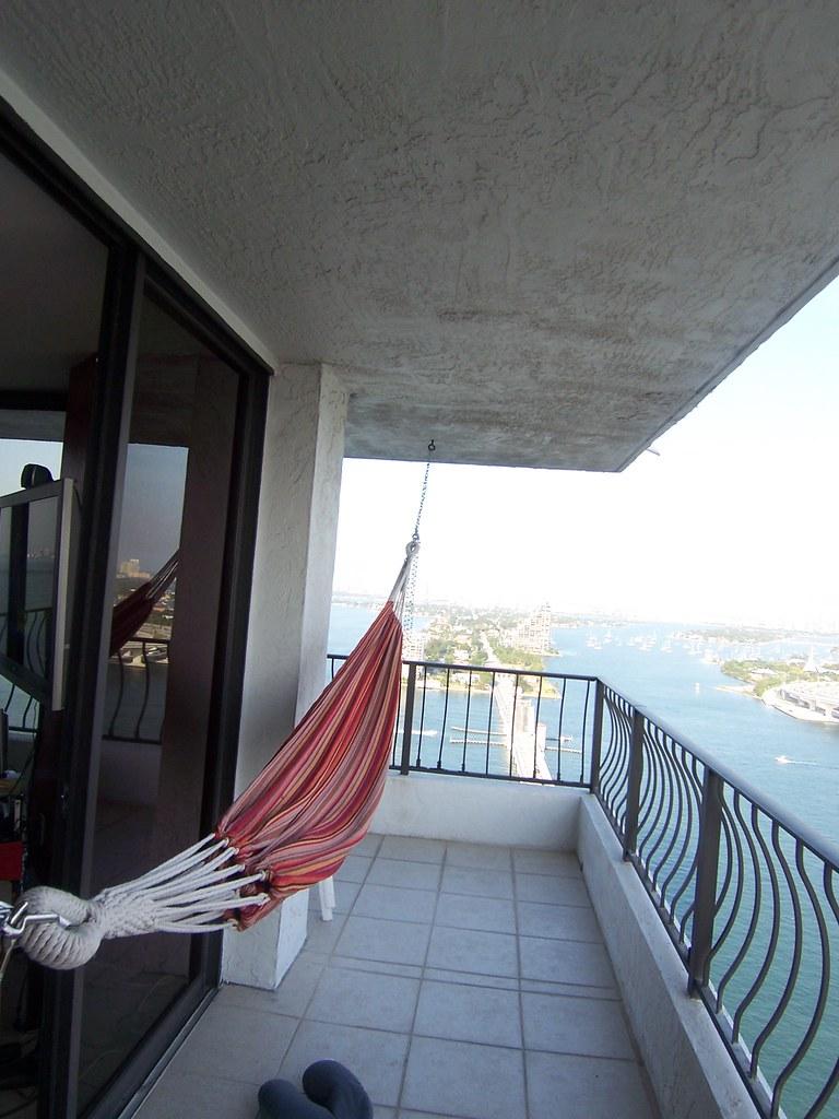 Hammocks rule i finally put up a hammock on the balcony for Balcony hammock