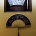 Display: Enamelled Ceramic Wall-Hanging & Fan - Sichuan University Museum
