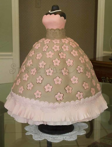 Pink and Brown Ball Gown - May 2008 | by SusieHazCakes