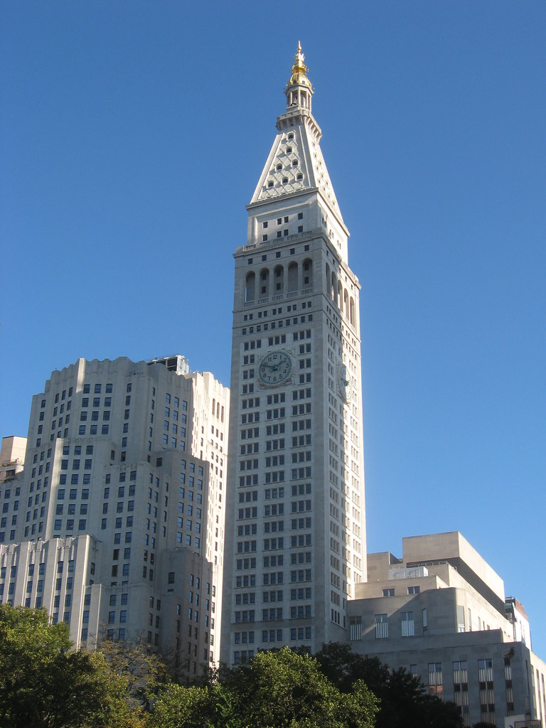 met life tower new york ny before the completion of the