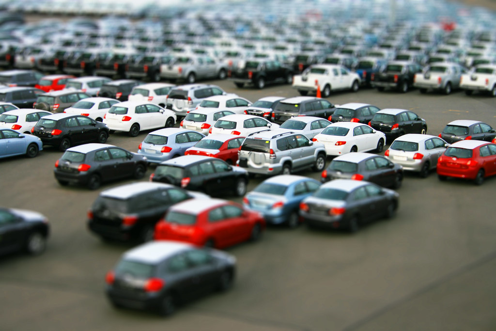 New Car >> Itty Bitty Lot | Tilt Shift of a car lot. | Jeremy Vandel | Flickr