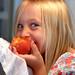 card - Grayson eating a peach
