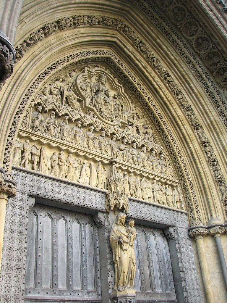 & Westminster Abbey north door | The tympanum and statues at W\u2026 | Flickr Pezcame.Com