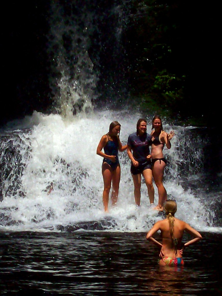 Waterfall Girls in Bikinis | One of 23 smaller waterfalls ...