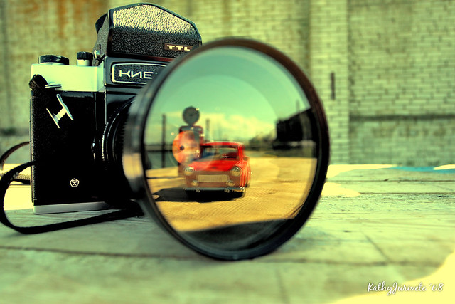 car reflection on lens | In Patarei penitentiary In Tallinn ... Video Camera Lens Reflection