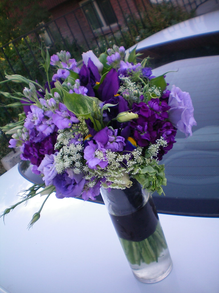 My new favorite purple bouquet lisianthus stock iris