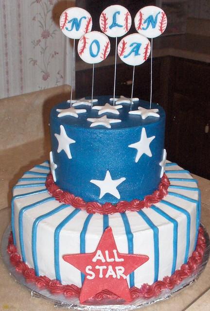 Baseball Baby Shower Cake Cakes By Andrea Flickr