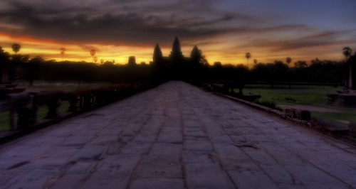 A solitary walk to Angkor in the thick morning fog and moisture | by Stuck in Customs