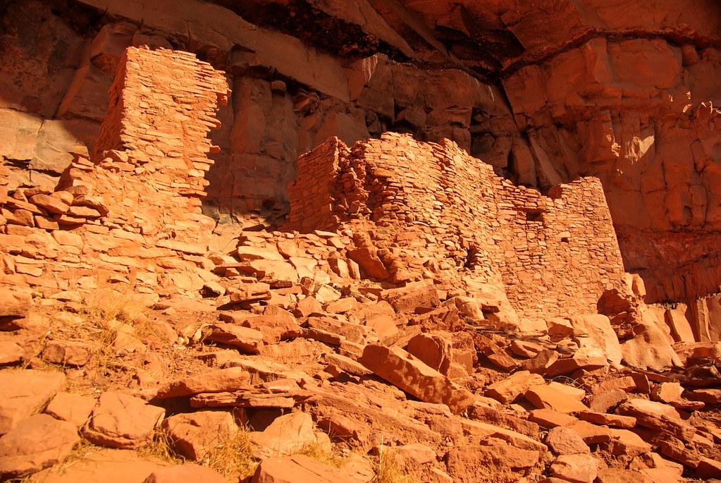 Honanki Cave Structures Sedona Arizona Sinagua Ruins