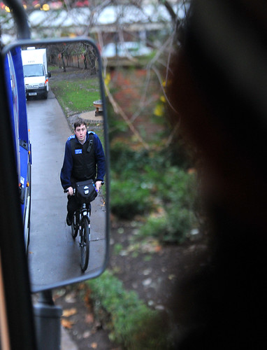 The Council gave cyclists an opportunity to see the road from a HGV driver's viewpoint | by carltonreid