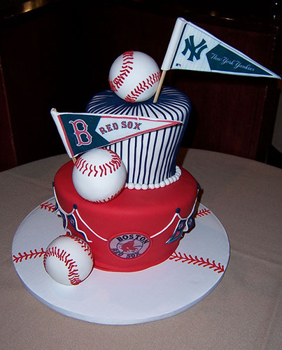Red Sox Cake Images : Red sox vs. yankees cake For a wedding rehearsal dinner ...