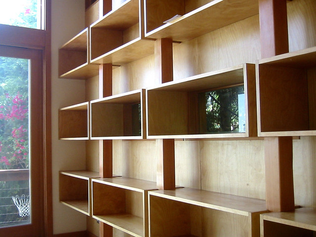 Wall of Shelves | Built in shelving wall plays on the idea ...