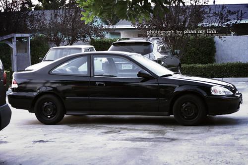 1996 black honda civic ex coupe my brother 39 s car linh flickr. Black Bedroom Furniture Sets. Home Design Ideas