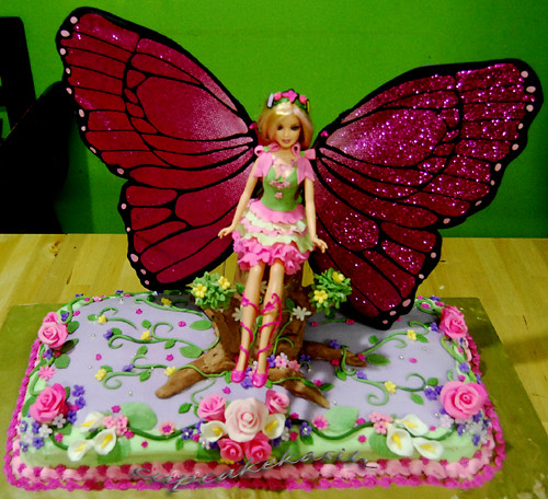Butterfly Barbie Cake Images