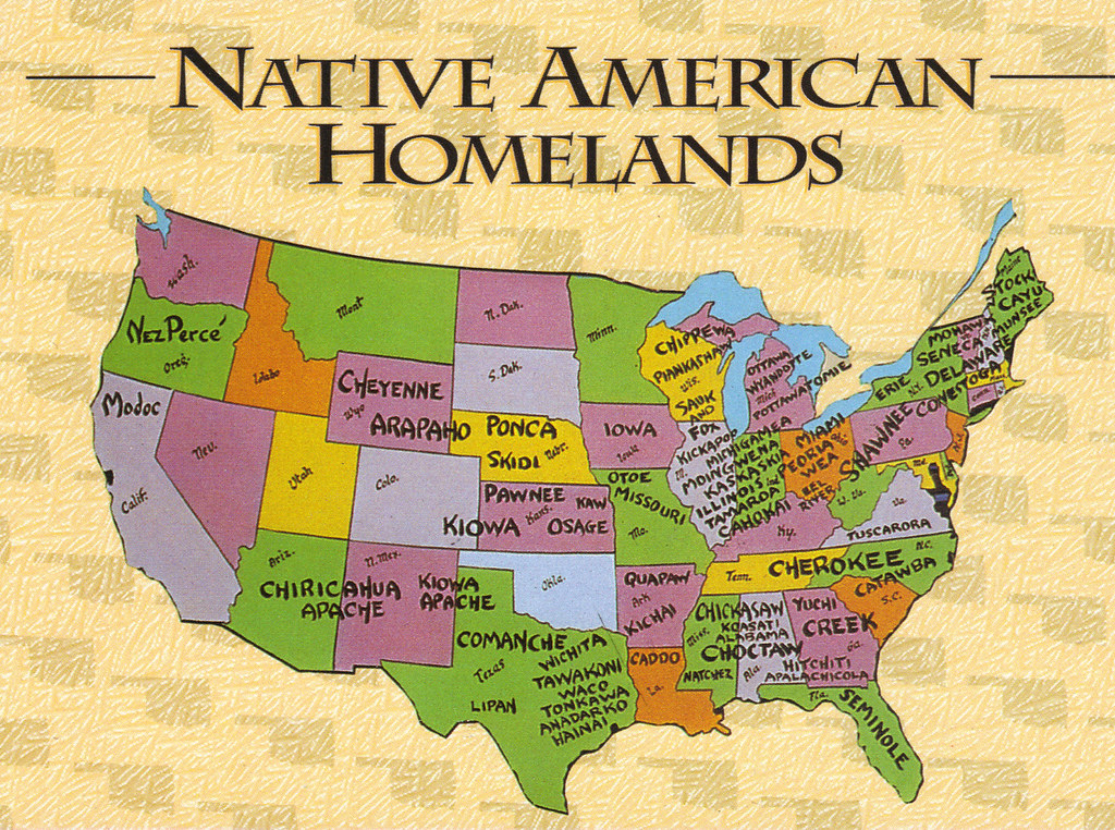 Us Native American Map - Us map of indian territories