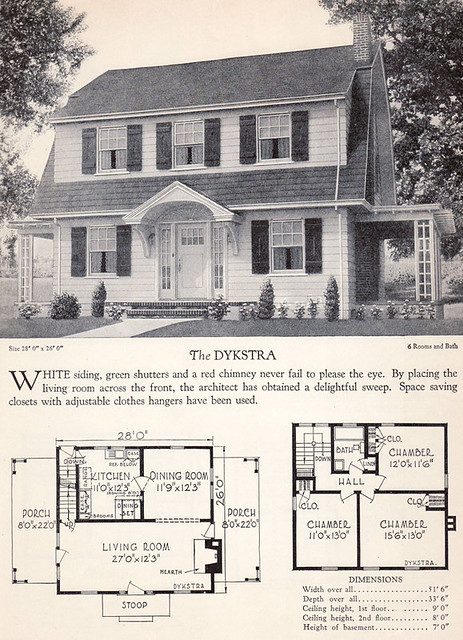 1928 Home Builders Catalog The Dykstra From The