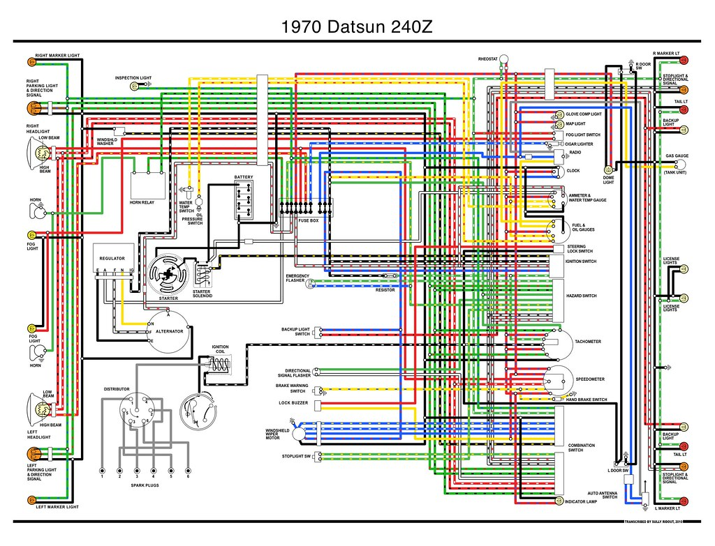 1970 Datsun 240z Wiring    Diagram      i transcribed the only