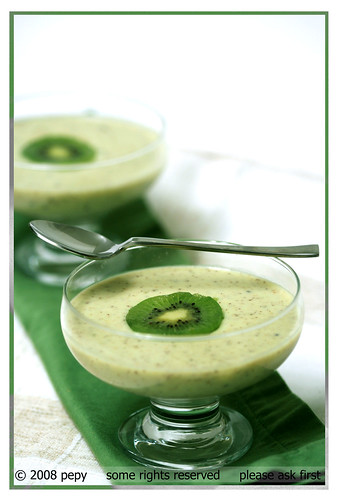 Recipe >> Kiwi Mousse | Flickr - Photo Sharing!