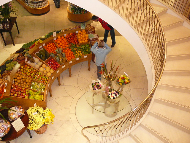 Fortnum and Mason, down the staircase