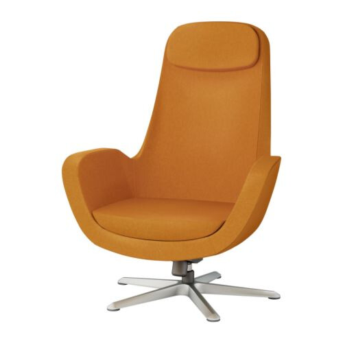 Ikea karlstad orange swivel chair blogged on whorange apri flickr - Fauteuil design ikea ...