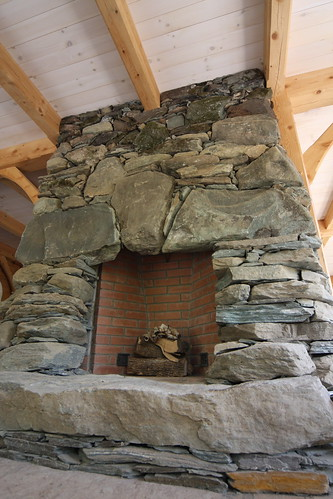 Fieldstone fireplace flickr photo sharing for Field stone fireplace