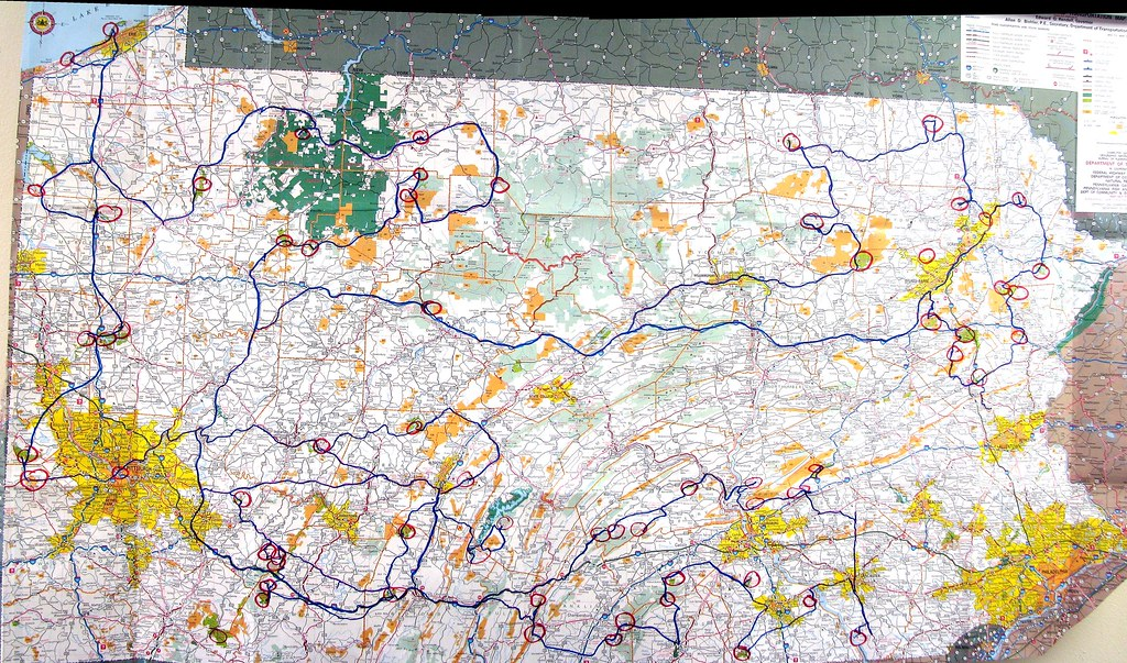 I Visited All 120 State Parks In Pennsylvania Over A Summer Once 90 Days I Also Had A Pa State Map That I Was Marking While Traveling