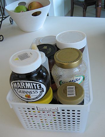 After: Pantry basket of toast spreads | by Biggie*