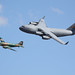 Boeing C-17 GLOBEMASTER III & Douglas C-47 Sky Train - Cargo Heritage Flight - Wings Over Houston 2008
