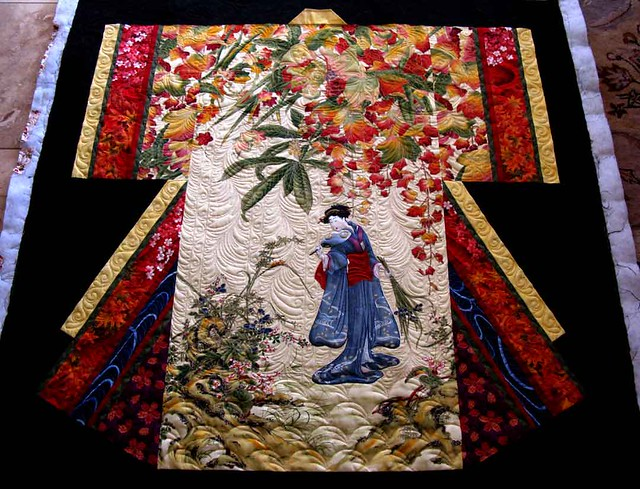 Kimono Quilted Quilting By Carla Barrett And Piecing By