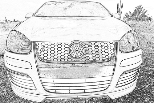 Volkswagen Line Drawing vw Tdi Line Drawing