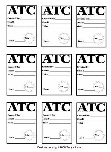 artist trading card template printable pictures to pin on