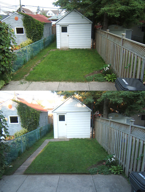 backyard before and after the quick cleaning eric pellerin flickr