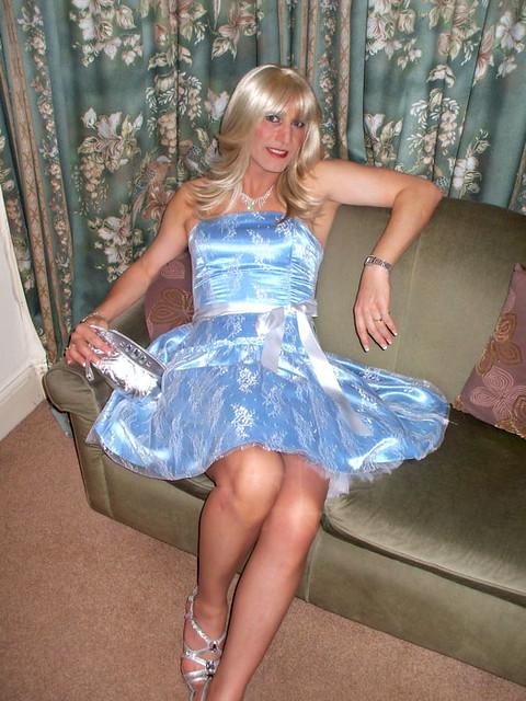 Free young transvestite wearing communion dress