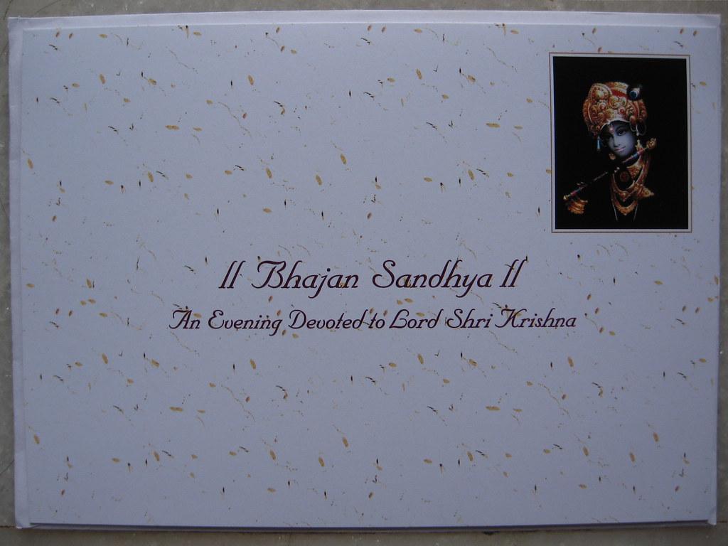 invite to bhajan sandhya u2014an evening devoted to lord shri k