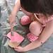Audrey paints pink