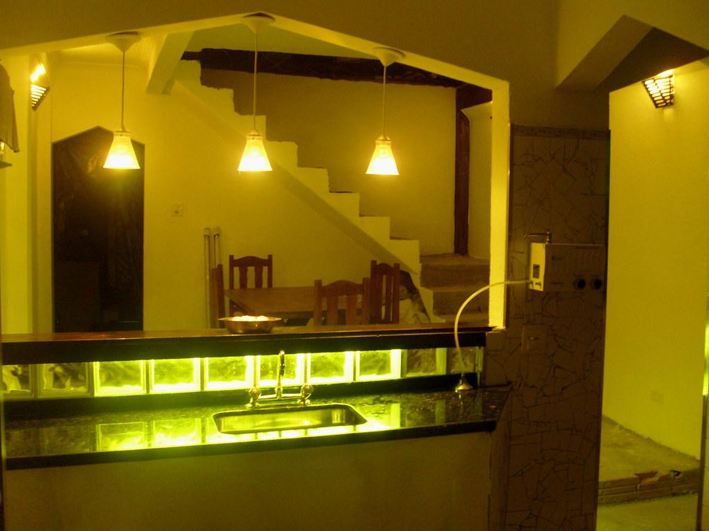 Imagens de #4F5D00 Sala de Jantar (vista do balcão com a iluminação acesa) Flickr 1024x768 px 3372 Bloco Cad Pia Banheiro Vista
