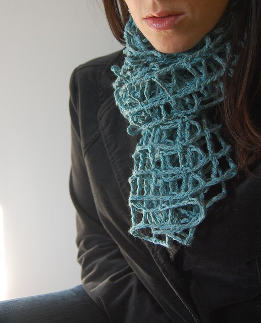 Blue Crochet Mesh Scarf Pattern Available For Free Here L Flickr