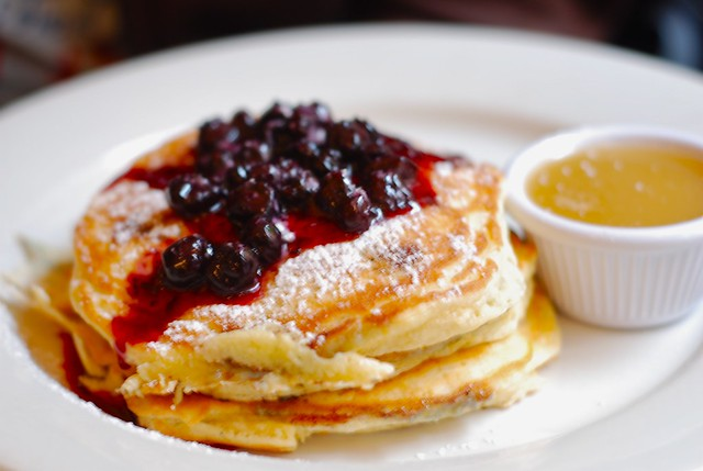 Blueberry pancakes at Clinton Street Baking Company   Flickr
