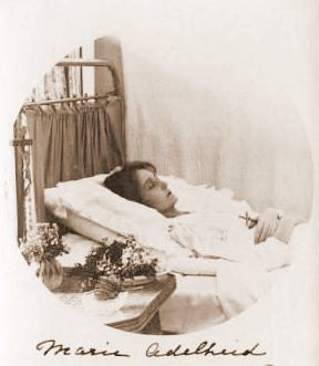 Sterbebild Marie Adelheid von Luxemburg, the dead Grand Duchess of Luxemburg | by Miss Mertens