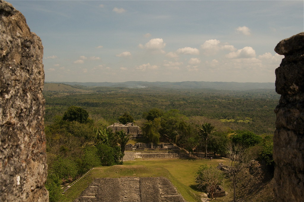 Top of Mayan Ruins 40M Up