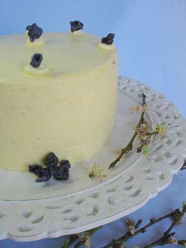 Marbled lemon-blueberry butter cake / Bolo mesclado de limão siciliano e blueberries | by Patricia Scarpin