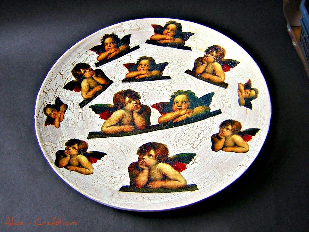 angels 2 angels in decoupage technik auf krakeliertem bamb flickr. Black Bedroom Furniture Sets. Home Design Ideas