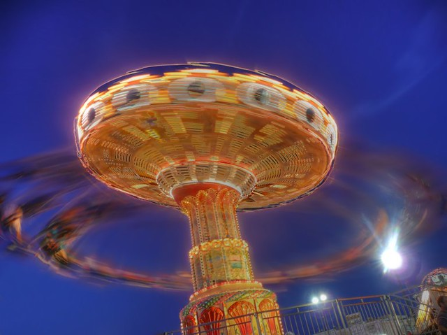 whirling people machine - A bit of a surreal treatment, but