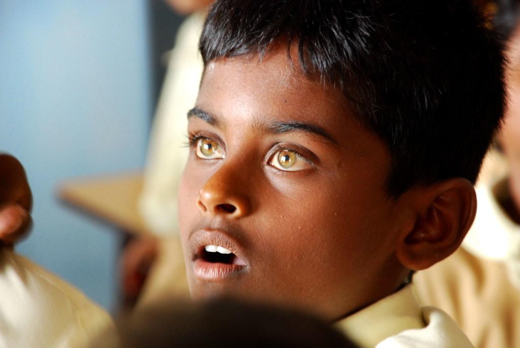 Light brown eyes on black people
