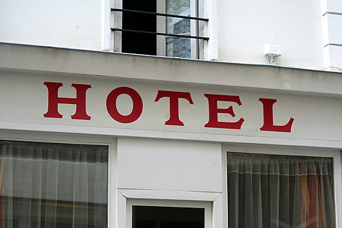 red hotel sign | by David Lebovitz