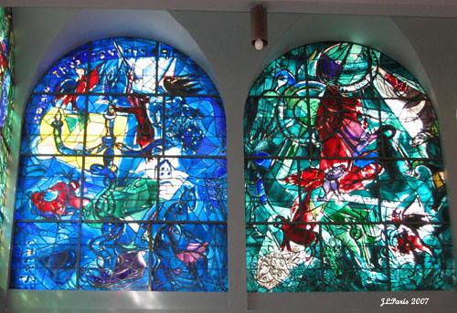 Marc Chagall Windows Hadassah Hospital View On Black In