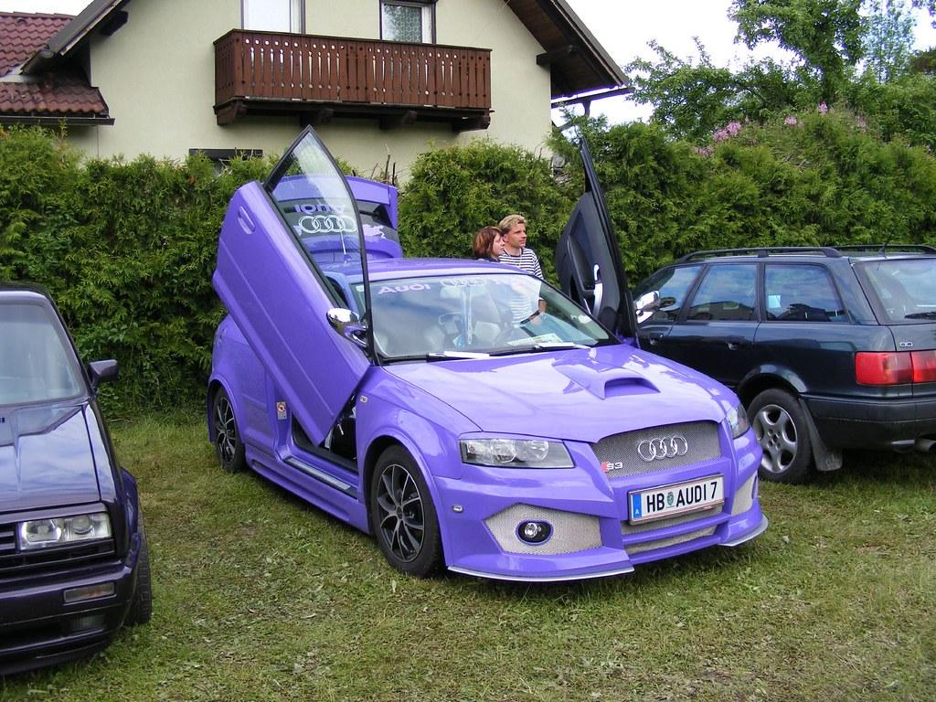 audi a3 8p in violett mit bodykit mycedes flickr. Black Bedroom Furniture Sets. Home Design Ideas