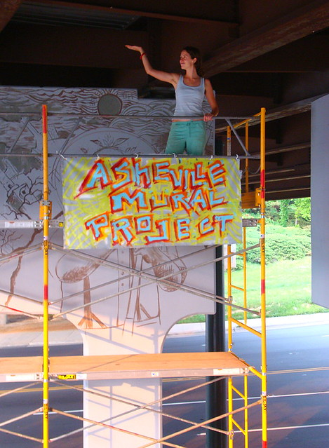 Amp and molly must asheville mural project begins with for Asheville mural project